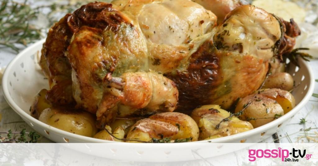 Κοτόπουλο γεμιστό με τυριά | Gossip-tv.gr