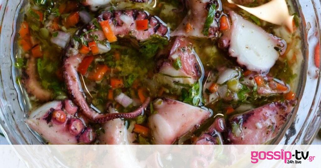 Χταπόδι ξυδάτο! Top καλοκαιρινό πιάτο από τον Γιώργο Τσούλη